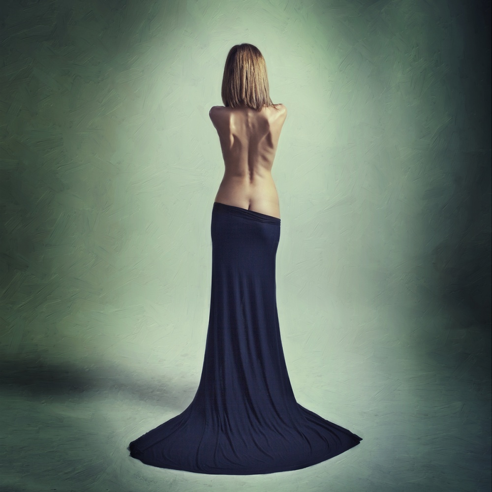 A piece of fine art art photography titled Angel In the Making by Oren Hayman