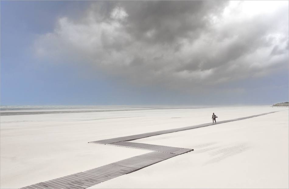 A piece of fine art art photography titled The Walker by Georges-Félix Cohen