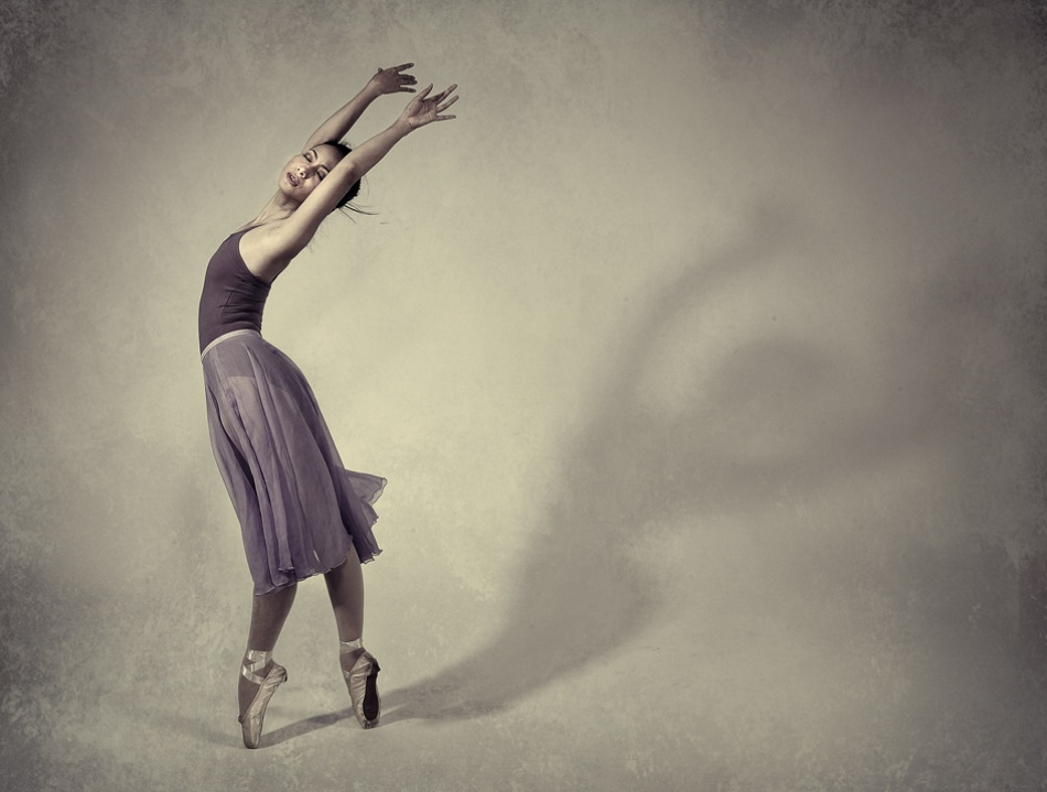 A piece of fine art art photography titled Dancing With the Shadow by hardibudi