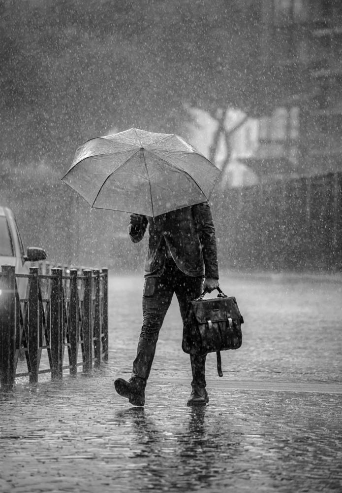 A piece of fine art art photography titled Rain Man by Ben Robson Hull