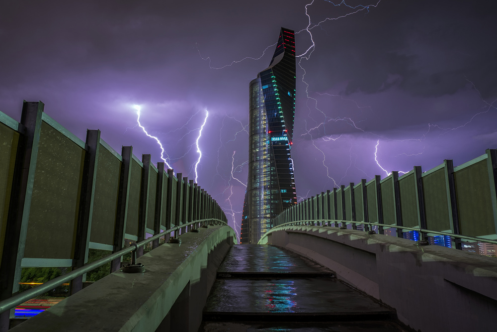 A piece of fine art art photography titled Lightning by AHMAD AL SAFFAR