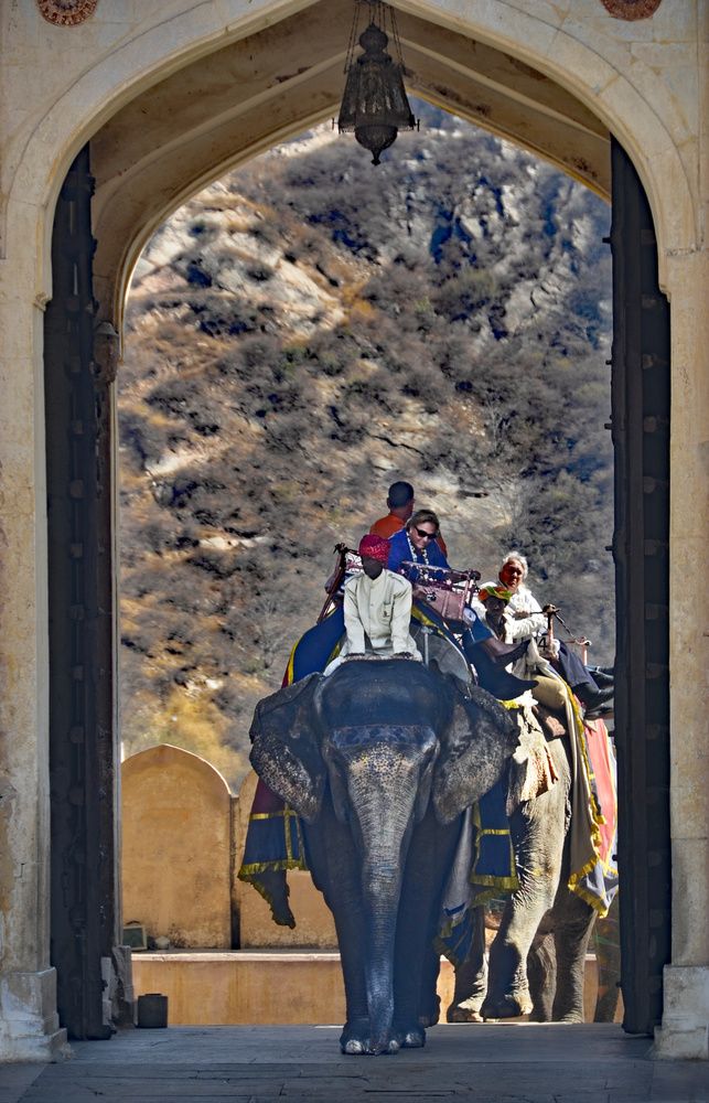 A piece of fine art art photography titled Entry Gate to Amer Fort by Miro Susta