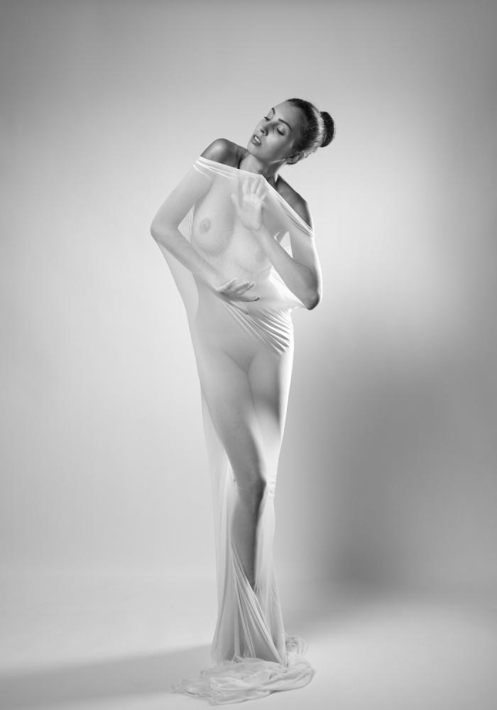 A piece of fine art art photography titled White by Arkadiusz Branicki