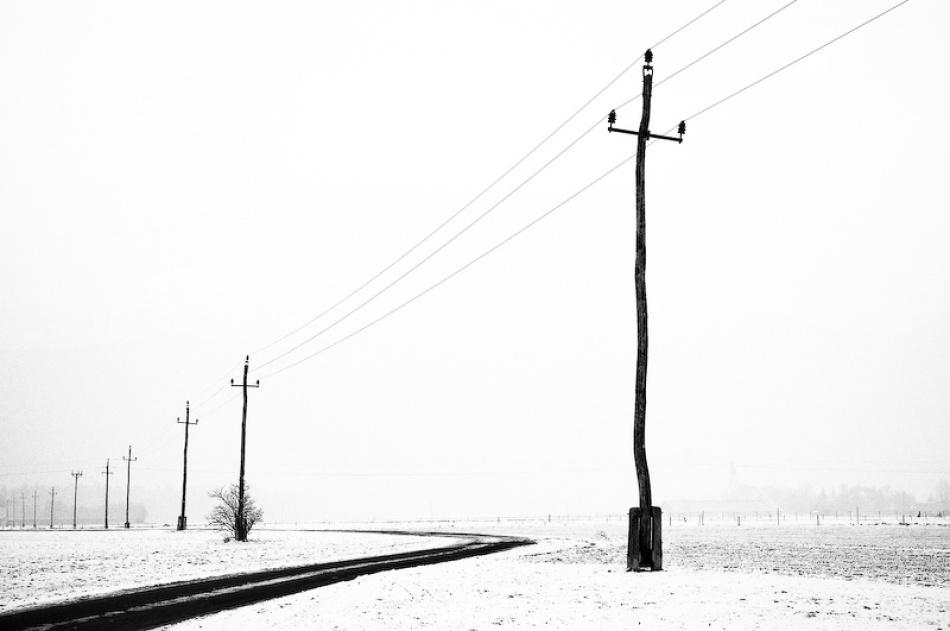 A piece of fine art art photography titled Electric Lines by Andrej Kajzer