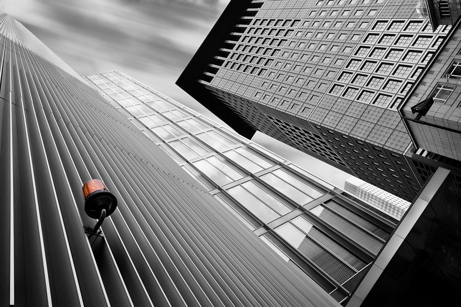 A piece of fine art art photography titled Banker´s Red Light by AMA