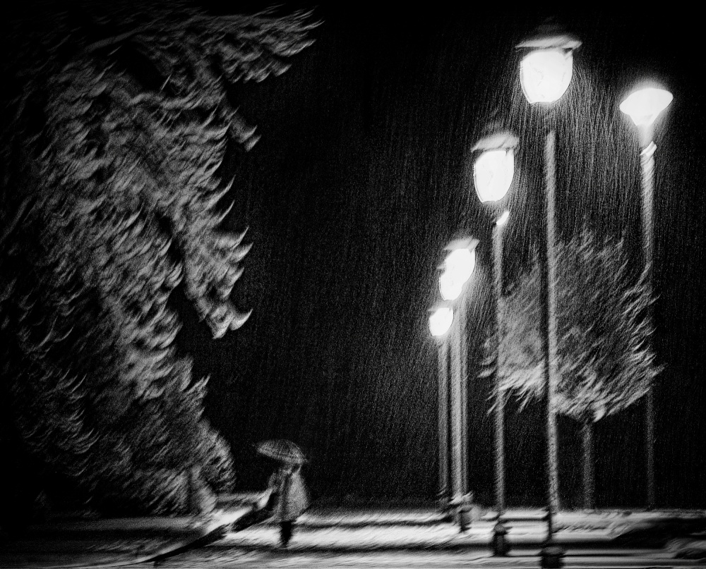 A piece of fine art art photography titled But the Night Is Still Young by Samanta Krivec
