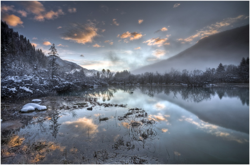 A piece of fine art art photography titled Morning at Zelenci by Robert Strahinjic