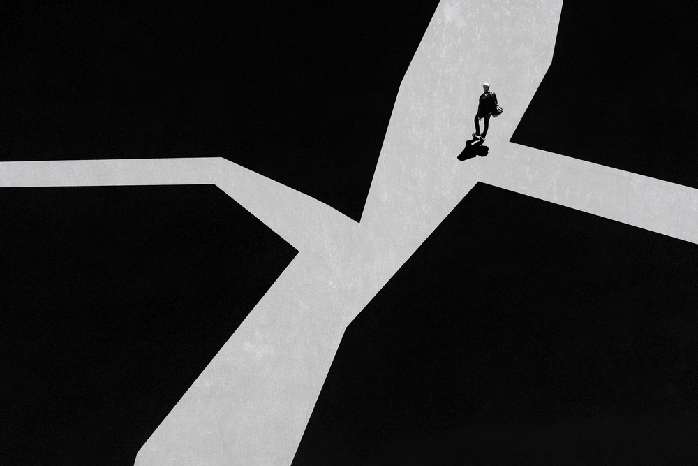 A piece of fine art art photography titled Crossroads by Luc Vangindertael (laGrange)