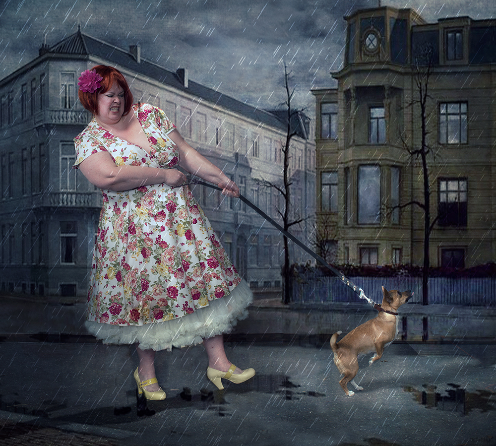 A piece of fine art art photography titled The Dog by Peter Kemp