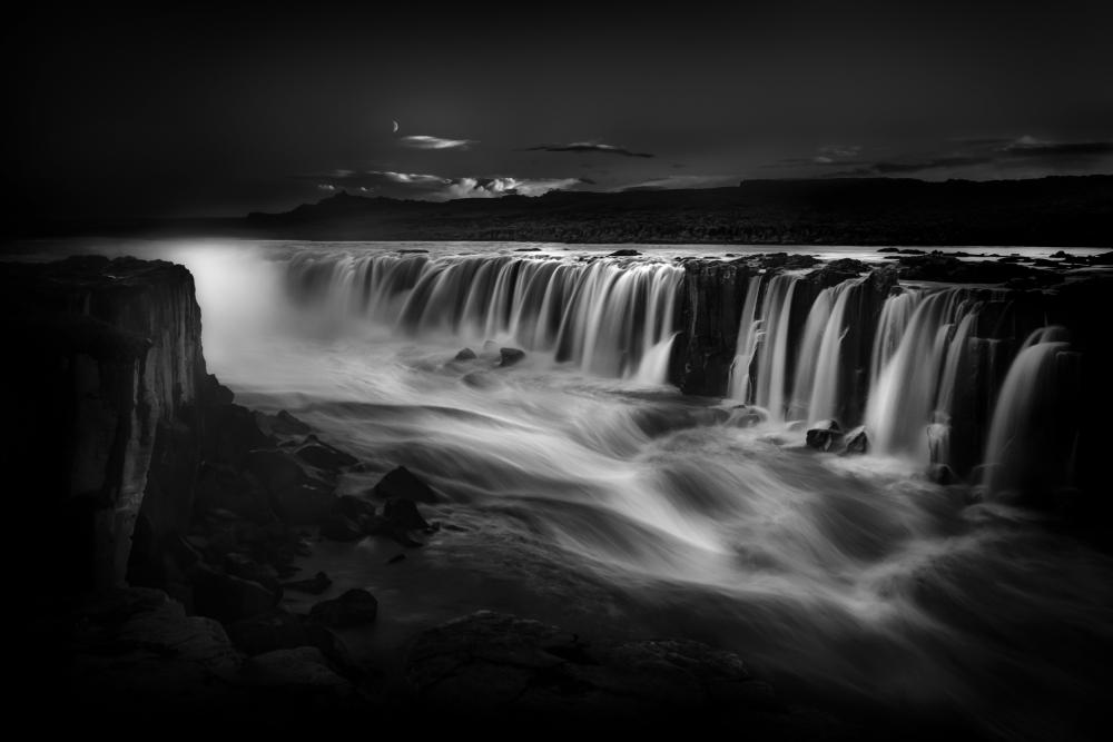 A piece of fine art art photography titled Selfoss Waterfall Iceland by Bill Devlin
