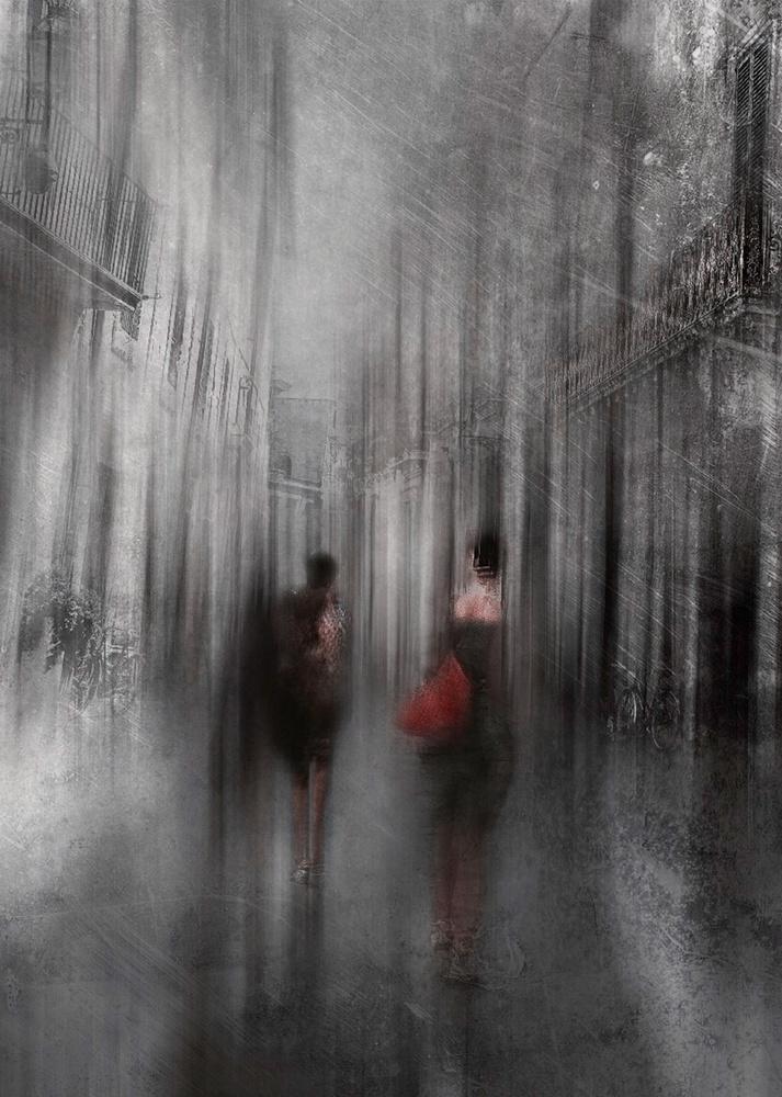 A piece of fine art art photography titled Stroll Through the City by Carmine Chiriacò