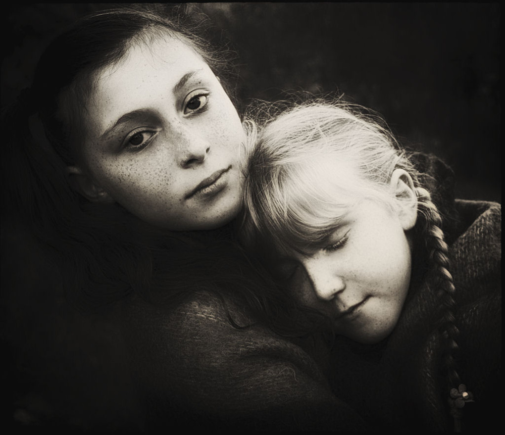 A piece of fine art art photography titled Sisters by Alicja O'Sullivan