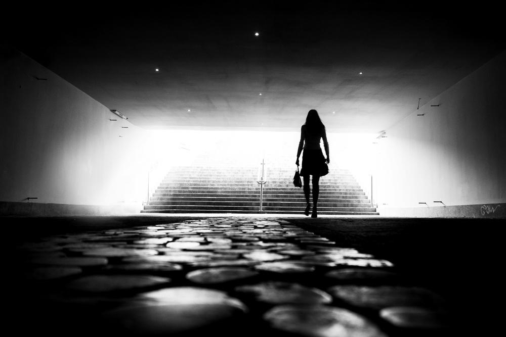 A piece of fine art art photography titled Walking In the Light by Marius Cinteză