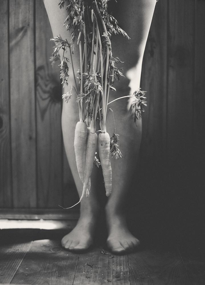 A piece of fine art art photography titled Carrot by Aleksandrova Karina
