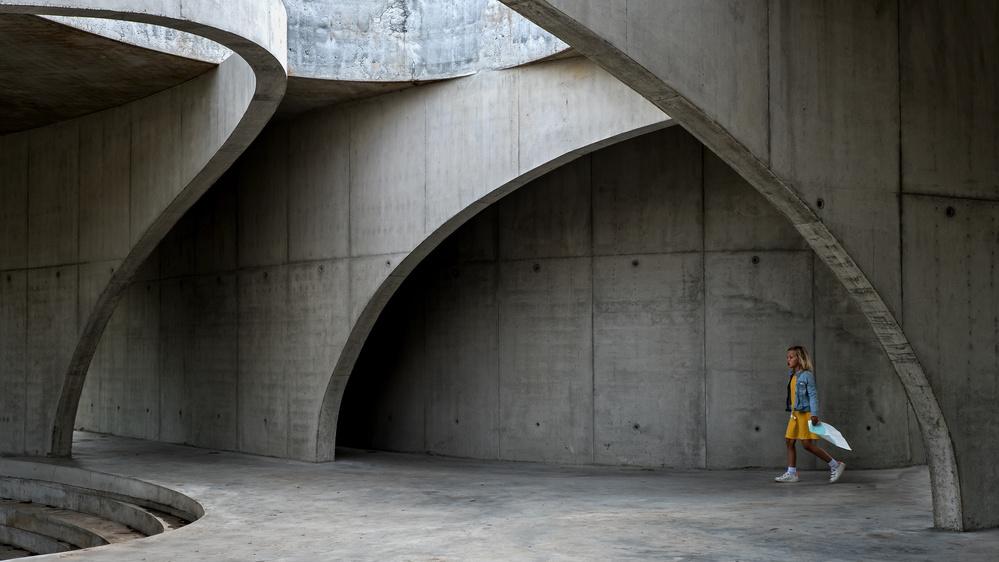 A piece of fine art art photography titled Under the Bridges by Lus Joosten