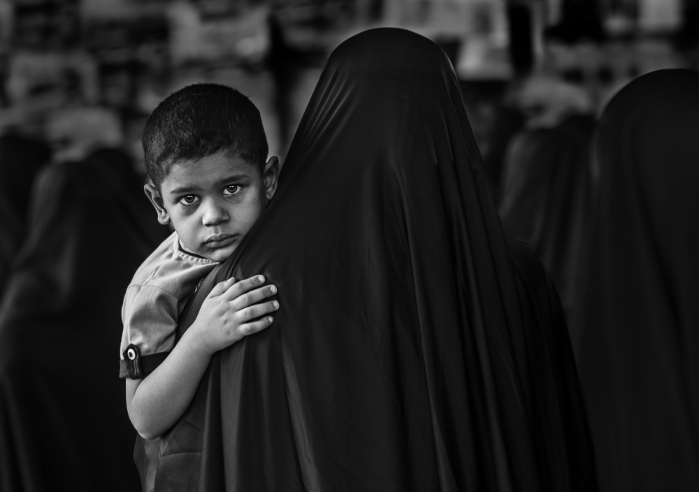 A piece of fine art art photography titled Me and Mom by Ali Al-Jazeri