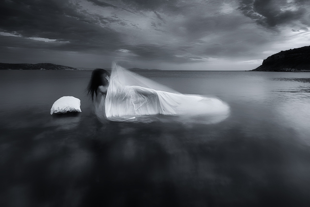 A piece of fine art art photography titled Nightmares and Dreamscapes by Maria Kaimaki