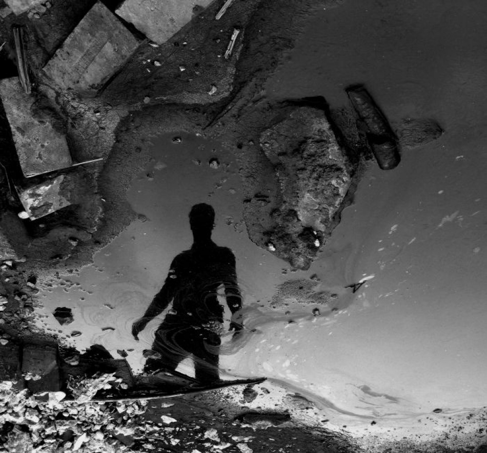 A piece of fine art art photography titled Dessine Sur L'eau by Andreea Chiru