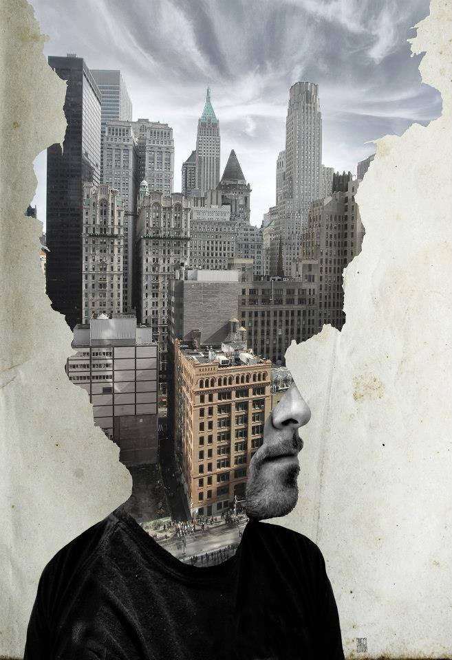 A piece of fine art art photography titled Where Is My Mind Wall Street, NYC by Aidan Sartin Conte