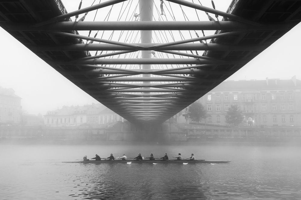 A piece of fine art art photography titled Rowers by Magda Chudzik