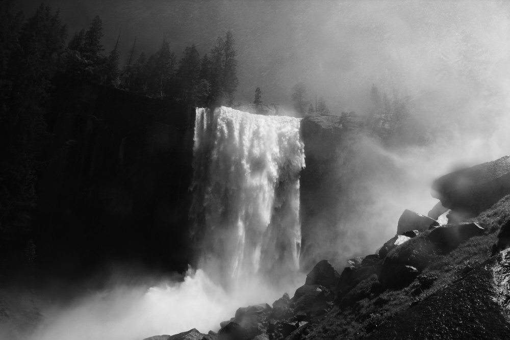 A piece of fine art art photography titled Vernal Fall by Raymond Salani III