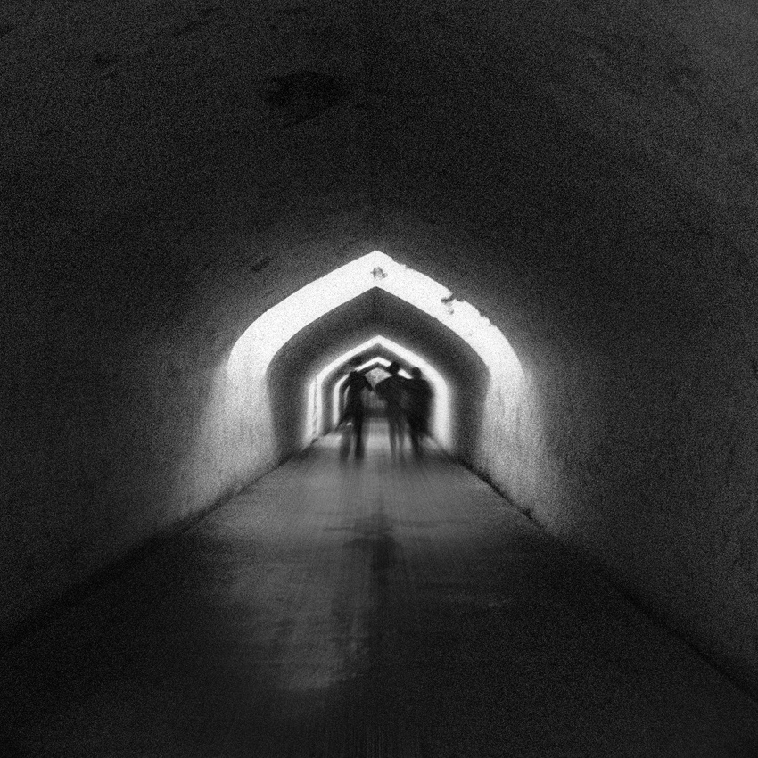 A piece of fine art art photography titled Along the Tunnel by Al Hilal