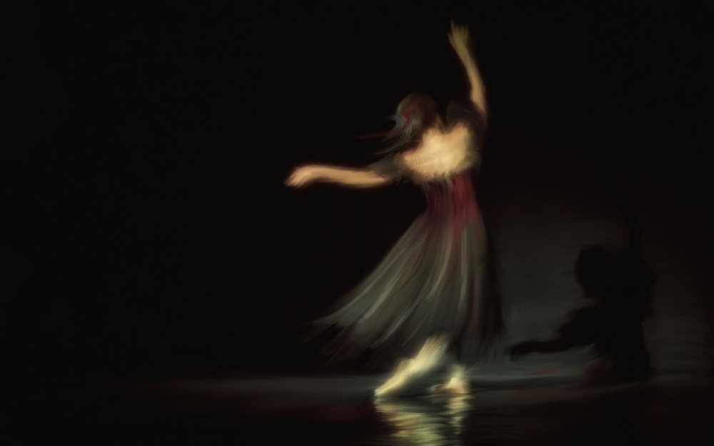 A piece of fine art art photography titled Ill Dance With My Shadow by Charlaine Gerber