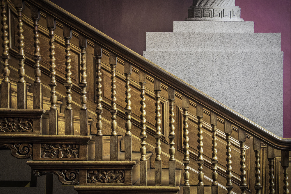 A piece of fine art art photography titled The Decorated Stairs by Linda Wride