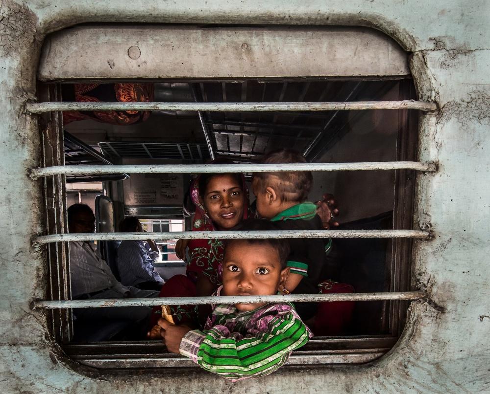 A piece of fine art art photography titled Train Eyes by Basem Al-Qasim