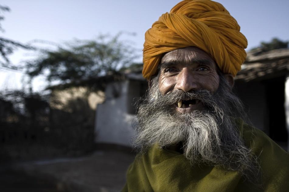 A piece of fine art art photography titled Nargadh Man by Kym Morris