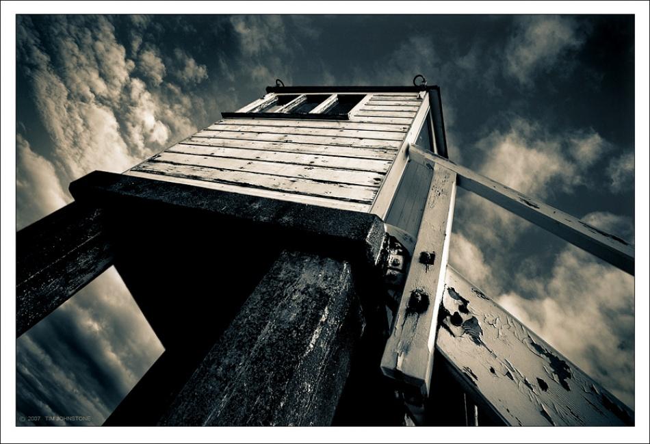 A piece of fine art art photography titled Skyshack II by Tim Johnstone