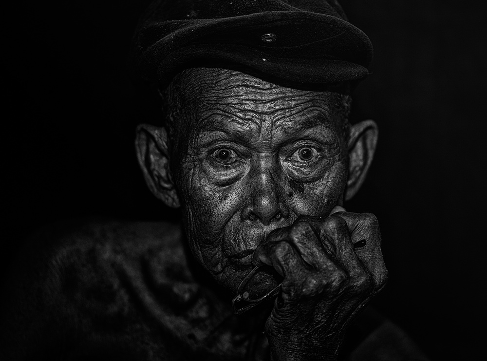 A piece of fine art art photography titled MR Abah by Andi Halil