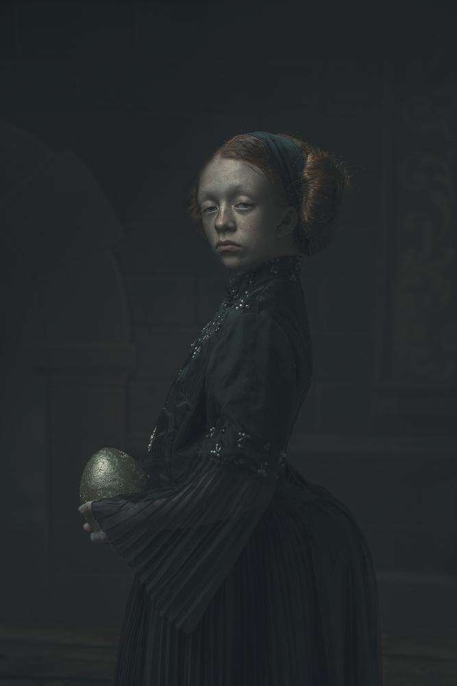 A piece of fine art art photography titled Golden Egg by Ewa Cwikla