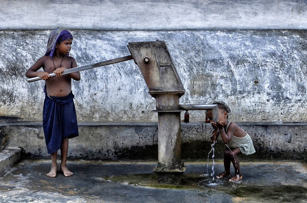 A piece of fine art art photography titled Thirsty by Avishek Das