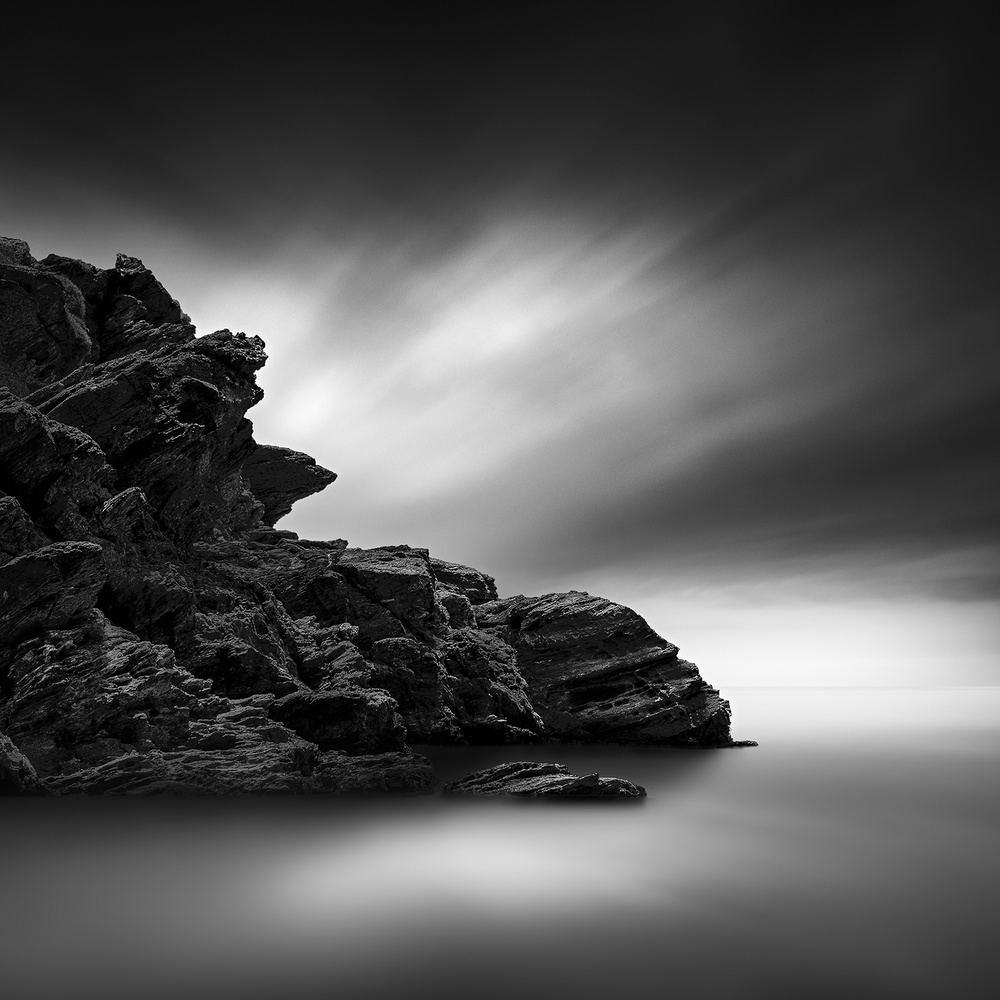 A piece of fine art art photography titled I Am a Rock by George Digalakis