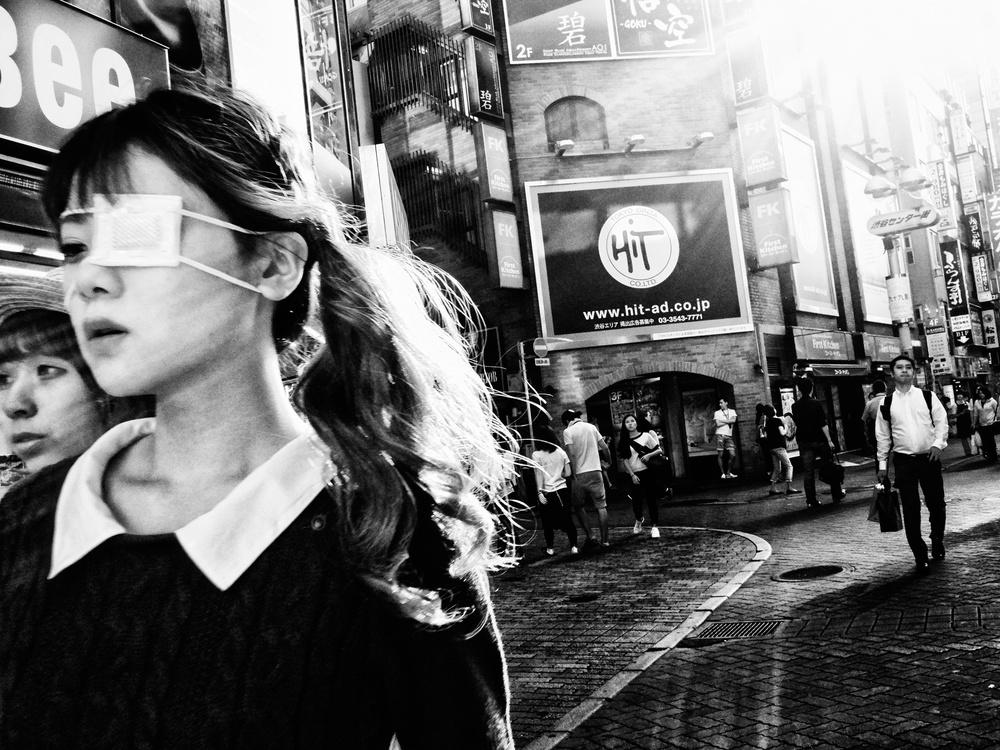 A piece of fine art art photography titled Shibuya Street - TOKYO 2016 by Ash Shinya Kawaoto