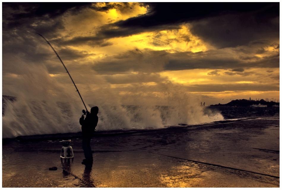 A piece of fine art art photography titled Southwest Wind  Fisher by mustafa yağcı