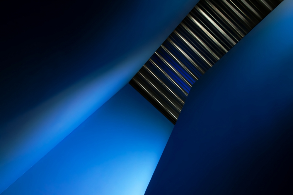 A piece of fine art art photography titled In the Blues by Gilbert Claes