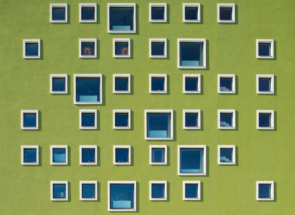 A piece of fine art art photography titled 39 Windows by Jan Lykke
