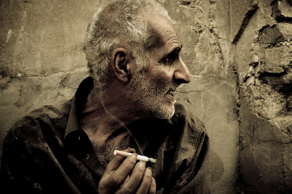A piece of fine art art photography titled A Cigarette for You ! II by sajad pishdadi