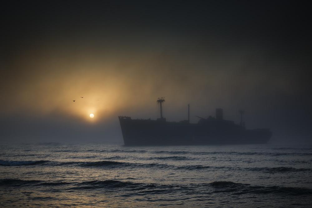 A piece of fine art art photography titled Unexpected Sunrise by Sebastiæn