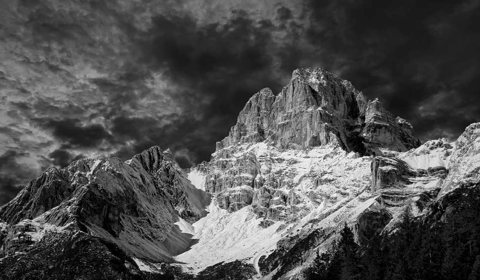 A piece of fine art art photography titled Dolomite Alps by Norbert Maier