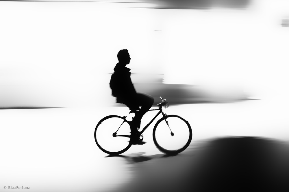 Night cyclist