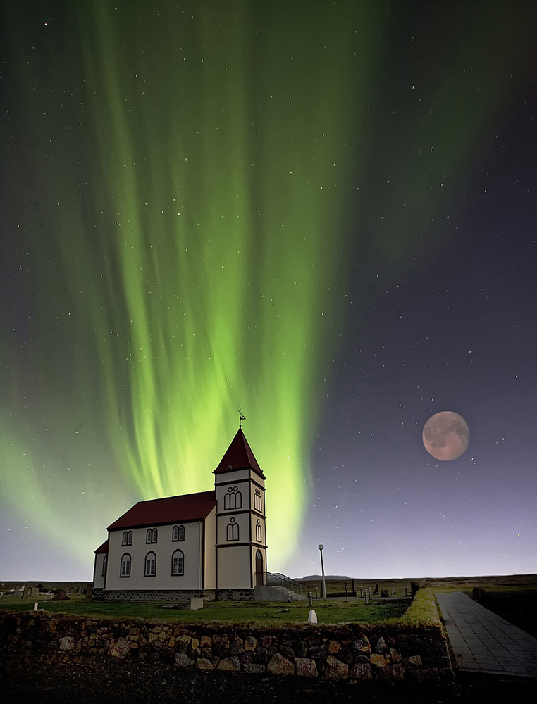 A piece of fine art art photography titled Holy Lights by Þorsteinn H. Ingibergsson