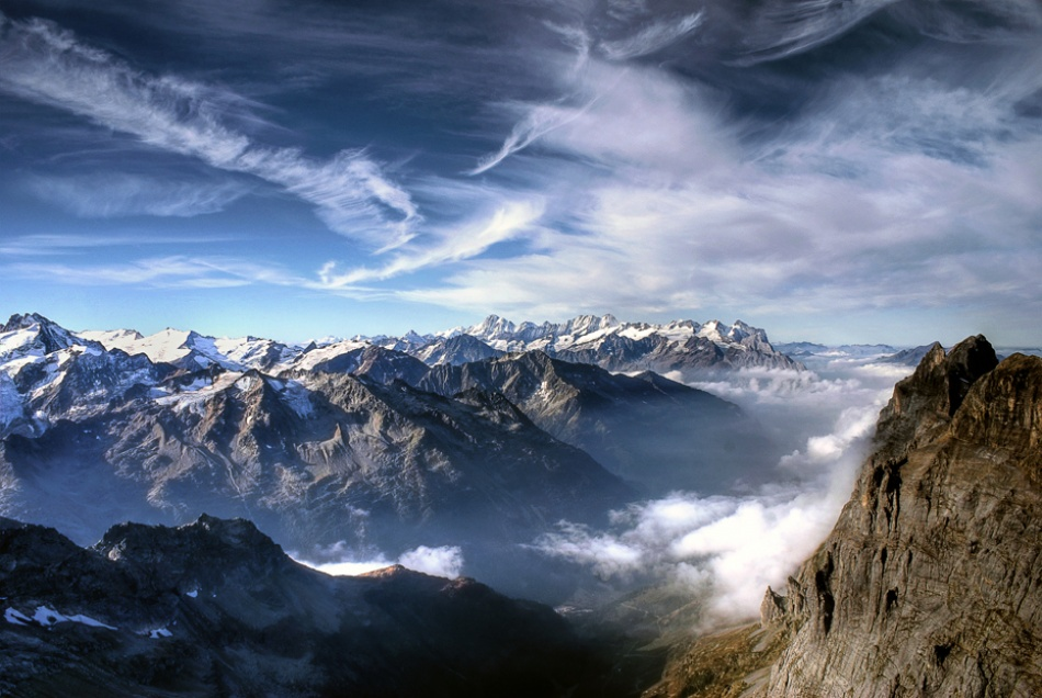 A piece of fine art art photography titled A Day On the Top of Mount Titlis by Evan Pratama Ludirdja