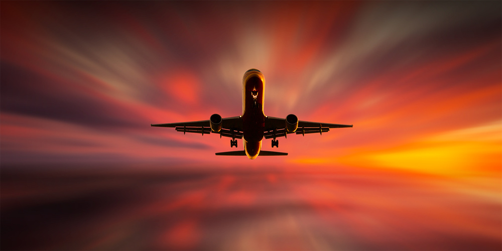 A piece of fine art art photography titled Colorful Landing by Leif Løndal