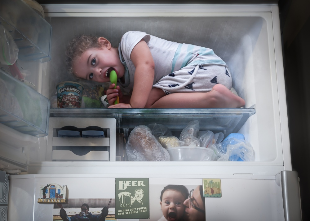 A piece of fine art art photography titled Too Hot Outside by Tomer Eliash
