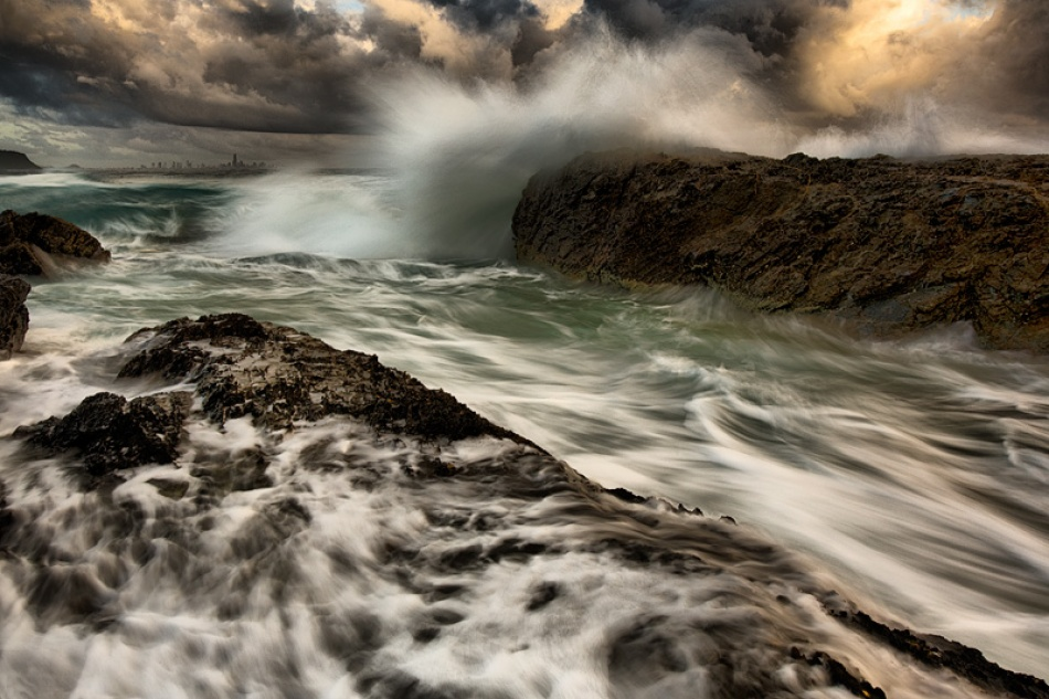 A piece of fine art art photography titled Storm Surge by Mel Brackstone