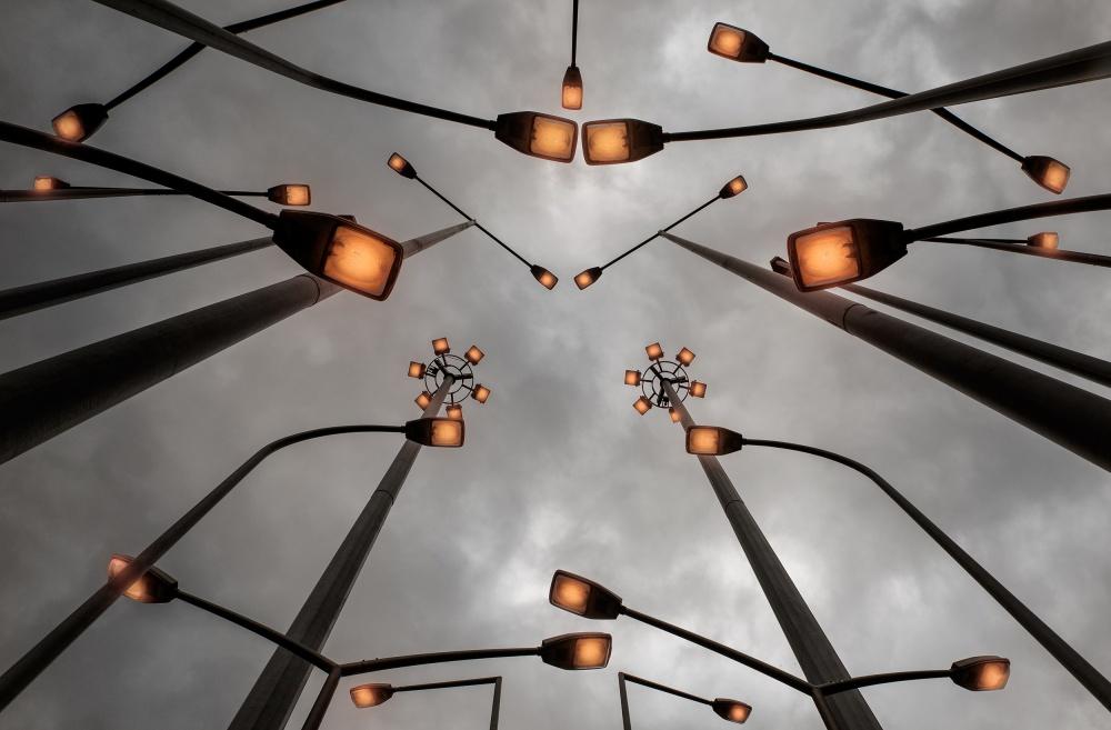 A piece of fine art art photography titled Lights by Jure Kravanja