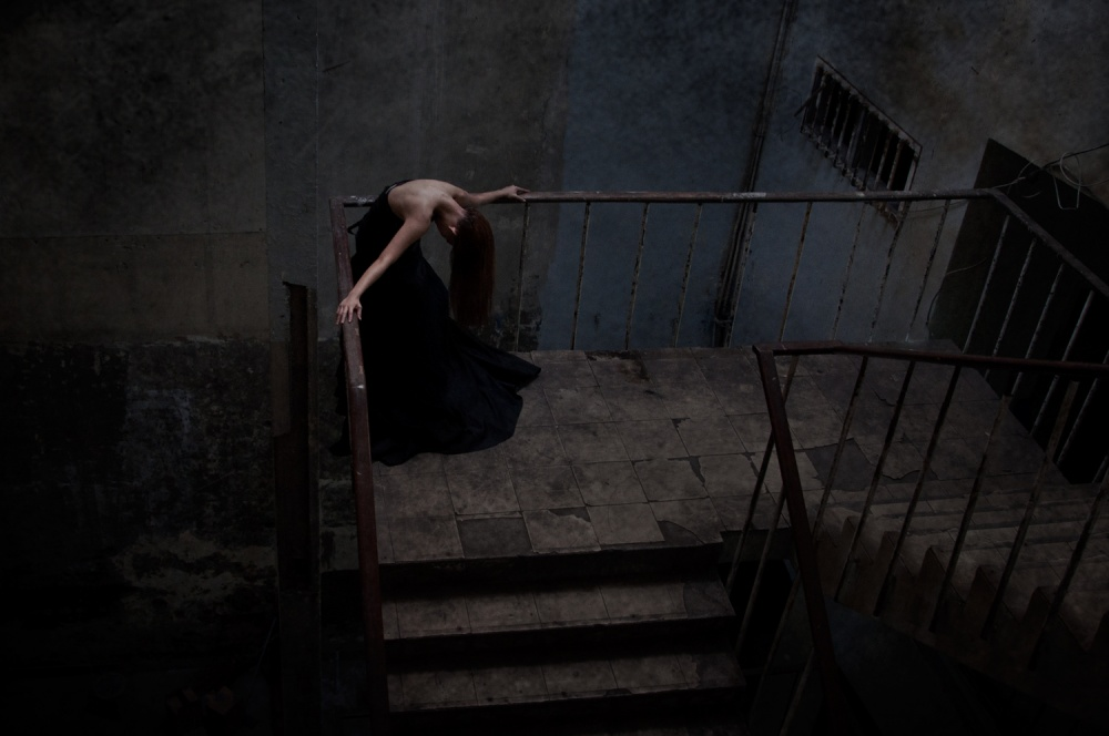 A piece of fine art art photography titled Grief In Solitude by Joey Bangun